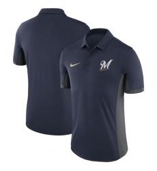 MLB Men's Milwaukee Brewers Nike Navy Franchise Polo T-Shirt