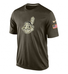 MLB Cleveland Indians Nike Olive Salute To Service KO Performance T-Shirt