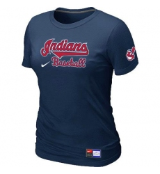 MLB Women's Cleveland Indians Nike Practice T-Shirt - Navy
