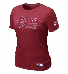 MLB Women's Cleveland Indians Nike Practice T-Shirt - Red