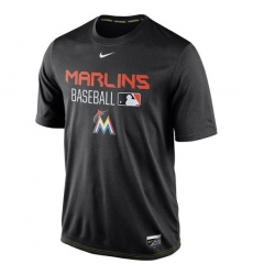 MLB Miami Marlins Nike Legend Team Issue Performance T-Shirt - Black