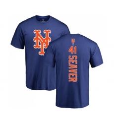 MLB Nike New York Mets #41 Tom Seaver Royal Blue Backer T-Shirt