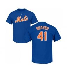 MLB Nike New York Mets #41 Tom Seaver Royal Blue Name & Number T-Shirt