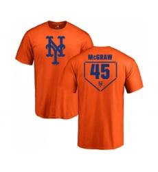 MLB Nike New York Mets #45 Tug McGraw Orange RBI T-Shirt