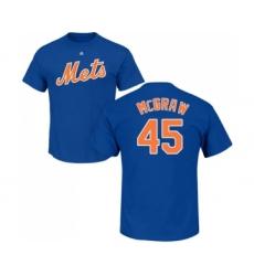 MLB Nike New York Mets #45 Tug McGraw Royal Blue Name & Number T-Shirt