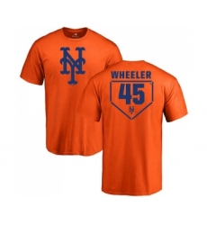 MLB Nike New York Mets #45 Zack Wheeler Orange RBI T-Shirt