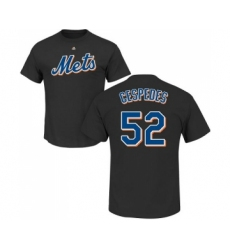 MLB Nike New York Mets #52 Yoenis Cespedes Black Name & Number T-Shirt