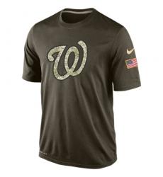 MLB Men's Washington Nationals Nike Olive Salute To Service KO Performance T-Shirt