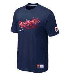 MLB Men's Washington Nationals Nike Practice T-Shirt - Navy