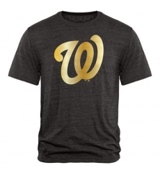 MLB Washington Nationals Fanatics Apparel Gold Collection Tri-Blend T-Shirt - Grey