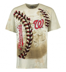 MLB Washington Nationals Hardball Tie-Dye T-Shirt - Cream