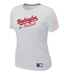 MLB Women's Washington Nationals Nike Practice T-Shirt - White