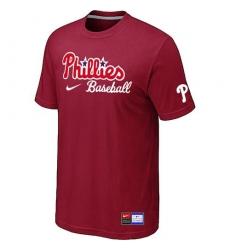 MLB Men's Philadelphia Phillies Nike Practice T-Shirt - Red