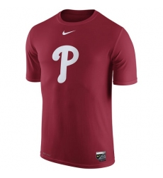 MLB Philadelphia Phillies Nike Authentic Collection Legend Logo 1.5 Performance T-Shirt - Red