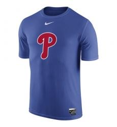 MLB Philadelphia Phillies Nike Authentic Collection Legend Logo 1.5 Performance T-Shirt - Royal
