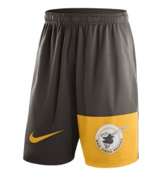 MLB Men's San Diego Padres Nike Brown Cooperstown Collection Dry Fly Shorts