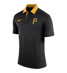 MLB Men's Pittsburgh Pirates Nike Black Authentic Collection Dri-FIT Elite Polo