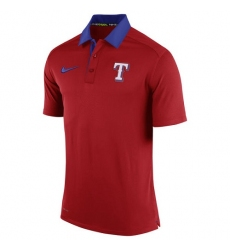 MLB Men's Texas Rangers Nike Red Authentic Collection Dri-FIT Elite Polo