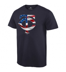 MLB Men's Minnesota Twins Navy Banner Wave T-Shirt