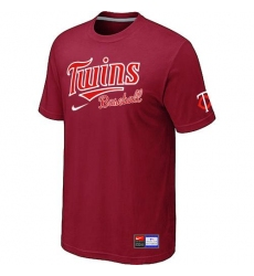 MLB Men's Minnesota Twins Nike Practice T-Shirt - Red