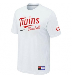 MLB Men's Minnesota Twins Nike Practice T-Shirt - White
