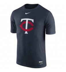 MLB Minnesota Twins Nike Authentic Collection Legend Logo 1.5 Performance T-Shirt - Navy