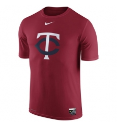 MLB Minnesota Twins Nike Authentic Collection Legend Logo 1.5 Performance T-Shirt - Red