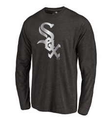 MLB Chicago White Sox Platinum Collection Long Sleeve Tri-Blend T-Shirt - Grey