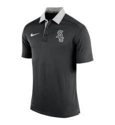 MLB Men's Chicago White Sox Nike Black Authentic Collection Dri-FIT Elite Polo