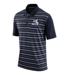 MLB Men's Chicago White Sox Nike Navy Dri-FIT Stripe Polo