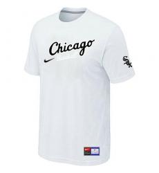 MLB Men's Chicago White Sox Nike Practice T-Shirt - White