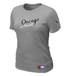 MLB Women's Chicago White Sox Nike Practice T-Shirt - Grey