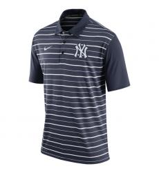 MLB Men's New York Yankees Nike Navy Dri-FIT Stripe Polo