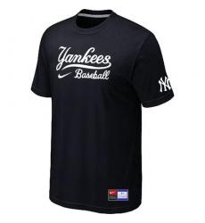 MLB Men's New York Yankees Nike Practice T-Shirt - Black
