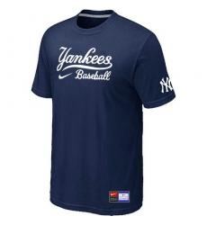 MLB Men's New York Yankees Nike Practice T-Shirt - Navy