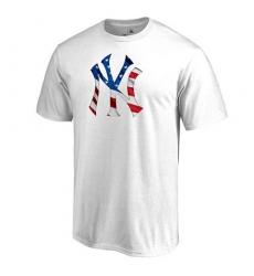 MLB Men's New York Yankees White Big & Tall Banner Wave T-Shirt