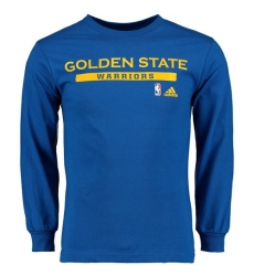 NBA Men's Golden State Warriors Adidas Cut and Paste Long Sleeve T-Shirt - Royal
