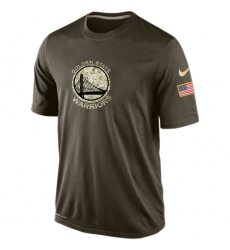 NBA Men's Golden State Warriors Nike Olive Salute To Service KO Performance Dri-FIT T-Shirt