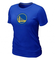 NBA Women's Golden State Warriors Big & Tall Primary Logo T-Shirt - Blue