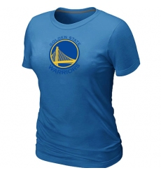 NBA Women's Golden State Warriors Big & Tall Primary Logo T-Shirt - Light Blue