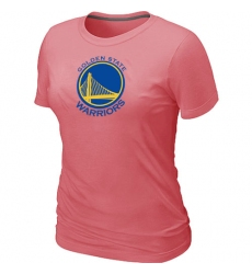 NBA Women's Golden State Warriors Big & Tall Primary Logo T-Shirt - Pink