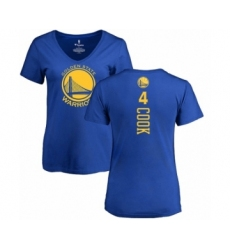 NBA Women's Nike Golden State Warriors #4 Quinn Cook Royal Blue Backer T-Shirt
