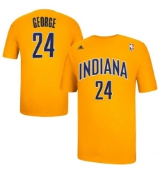 NBA Adidas Indiana Pacers #24 Paul George Game Time T-Shirt - Gold
