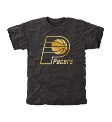 NBA Men's Indiana Pacers Gold Collection Tri-Blend T-Shirt - Black