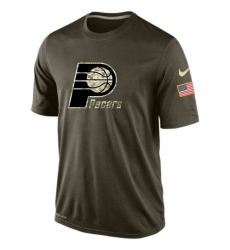 NBA Men's Indiana Pacers Nike Olive Salute To Service KO Performance Dri-FIT T-Shirt