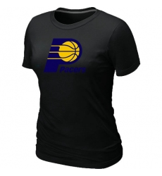 NBA Women's Indiana Pacers Big & Tall Primary Logo T-Shirt - Black