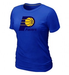 NBA Women's Indiana Pacers Big & Tall Primary Logo T-Shirt - Blue