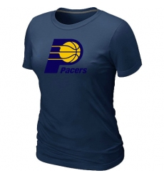 NBA Women's Indiana Pacers Big & Tall Primary Logo T-Shirt - Navy
