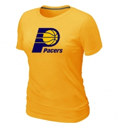 NBA Women's Indiana Pacers Big & Tall Primary Logo T-Shirt - Yellow