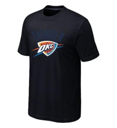 NBA Men's Oklahoma City Thunder Big & Tall Primary Logo T-Shirt - Black